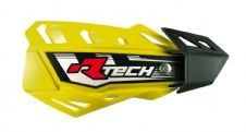 Racetech Yellow FLX Standard Handguards With Mount Kit Motocross Enduro